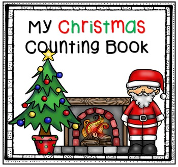 Christmas Book to Practice Numbers to 5, Penmanship and Rhyming