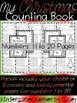 Christmas Counting Book BUNDLE 1 to 10 AND 11 to 20 Winter Number Writing K Math