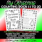 Christmas Counting Book Number Sense Writing 11-20 Kindergarten Winter Math