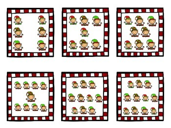 Christmas Counting & Cardinality Cards for Kindergarten 1 - 10 K.CC.6