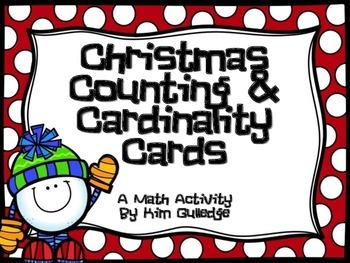 Christmas Counting & Cardinality Cards for Kindergarten 1