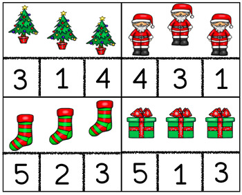 Christmas Counting Cards