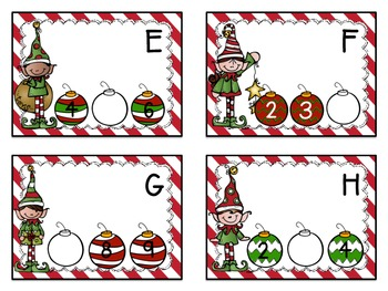 Christmas Counting Centers - Missing Numbers, Counting On and Making Ten