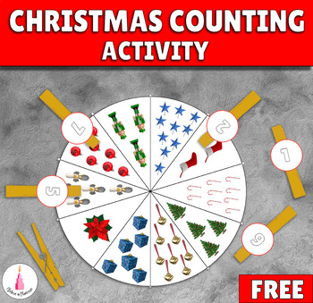 Christmas Counting Clip Activity Free