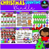 Christmas Counting Clip Art Big Bundle {Educlips Clipart}