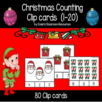 Christmas Counting Clip Cards (1-20)