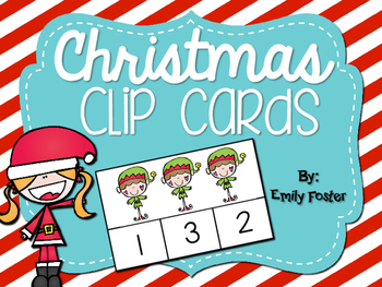 Christmas Counting Clip Cards