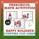 Christmas Counting Clip Cards for Preschool