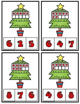Christmas Counting Clip It Cards:  Numbers 1-20
