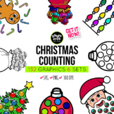 Christmas Counting Clipart Bundle