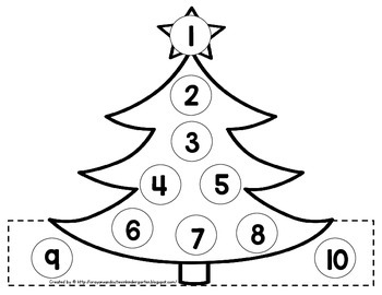 Christmas Counting Crown 1-10