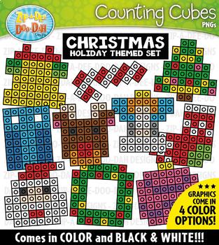 Christmas Counting Cubes Clipart {Zip-A-Dee-Doo-Dah Designs}