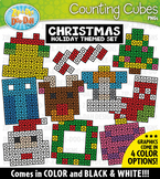 Christmas Counting Cubes Clipart {Zip-A-Dee-Doo-Dah Designs}