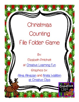Christmas Counting File Folder Game