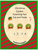 Christmas Math Centers, Christmas Cut and Paste, Special Education and Autism