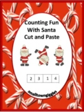 Christmas Cut and Paste Activities Kindergarten Math Addit