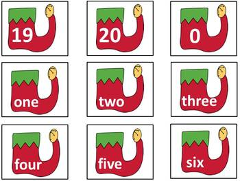 Christmas Counting Games #'s 0-20