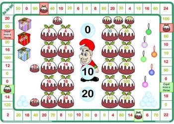 Christmas Counting In 2's 5's 10's Game