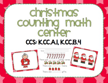Christmas Counting Math Center