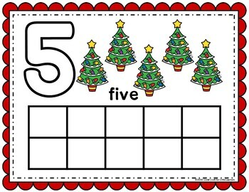 Christmas Play Dough Counting Mats 0-10