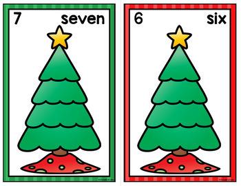 Christmas Counting Mats 0-20