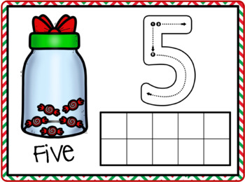 Christmas Counting Mats (10s frames) perfect to use with play dough