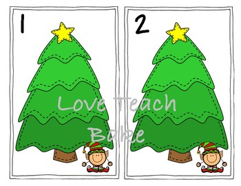 Christmas Counting Mats