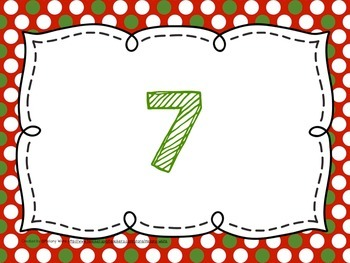 Christmas Counting Mats Numerals 1-10