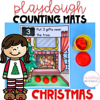 Christmas Counting Mats - Playdoh Fun!