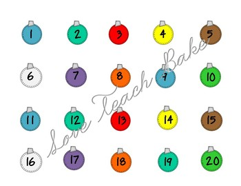Christmas Counting Mats with Number Sight Words in Spanish and English!