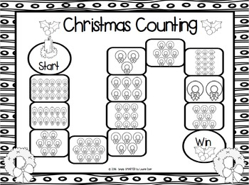 FREEBIE Christmas Counting:  NO PREP Counting Board Game