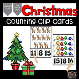 Christmas Count and Clip Number Cards