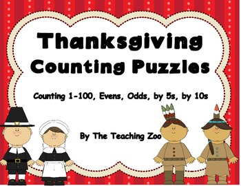 Thanksgiving Counting Number Skills Cut & Paste Puzzles