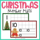 Christmas Counting & Number Writing Mats | 1-10 | Mini Eraser Activity