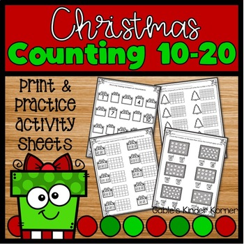 Christmas Counting Numbers 10-20 *NO PREP*