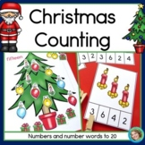 Christmas Counting, Numerals and Number Words 1-20