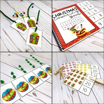 Christmas Counting Pack - Hands on Activities for Numbers 1-20