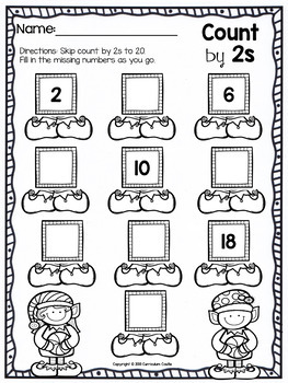 christmas skip counting freebie by curriculum castle tpt. Black Bedroom Furniture Sets. Home Design Ideas