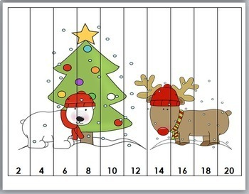 Christmas Number Puzzles - Christmas Math