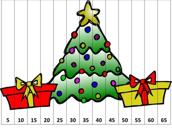 Christmas Counting Puzzles First Grade