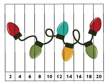 Christmas Counting Puzzles - Rote & Skip Counting!