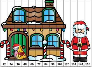 Christmas Counting Puzzles Third Grade