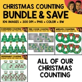 Christmas Counting Scene Clipart Bundle