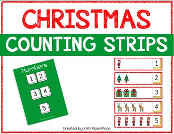 Christmas Counting Strips