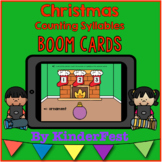 Christmas Counting Syllables - Boom Cards