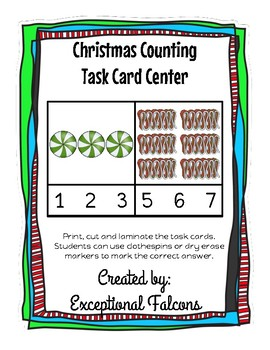 Christmas Counting Task Card Center