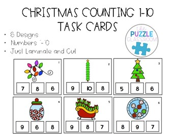 Christmas Counting Task Cards