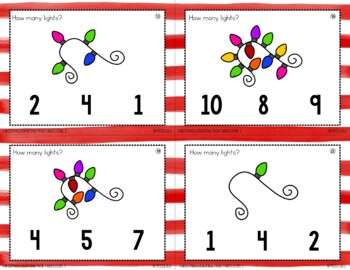 Christmas Counting Task Cards {4 Levels}