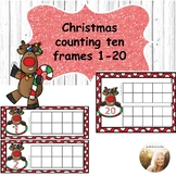 Christmas Counting Ten Frames 1-20