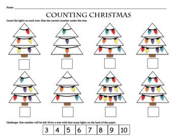 Christmas Math Activities (Homework & Independent Practice)